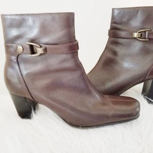Nine & company ankle boots leather upper